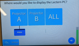 Crestron Screen Display with projector options